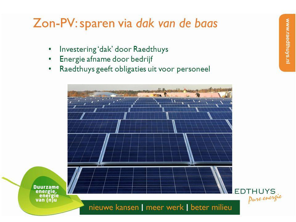 Zon-PV: sparen via dak van de baas