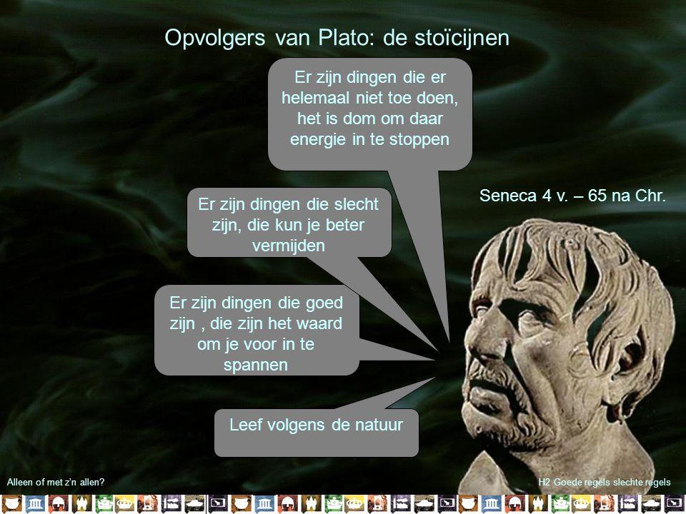Opvolgers van Plato: de stoïcijnen