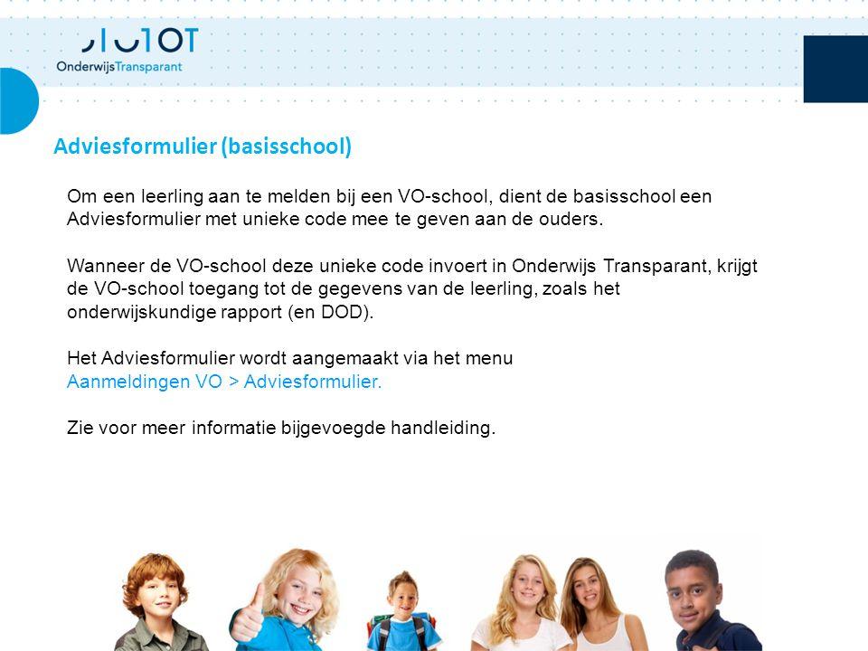 Adviesformulier (basisschool)