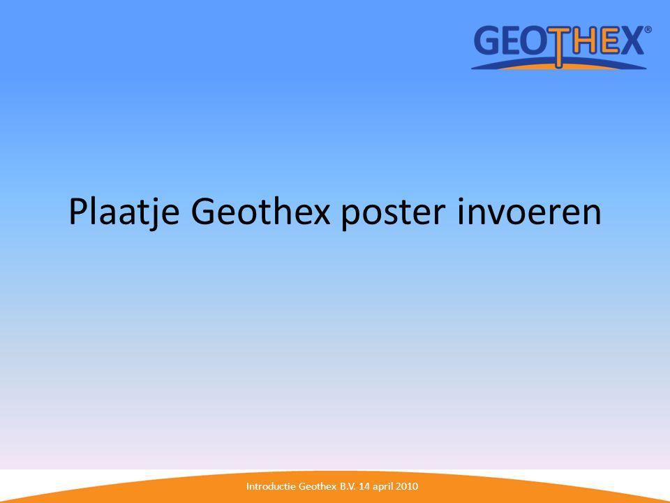 Plaatje Geothex poster invoeren