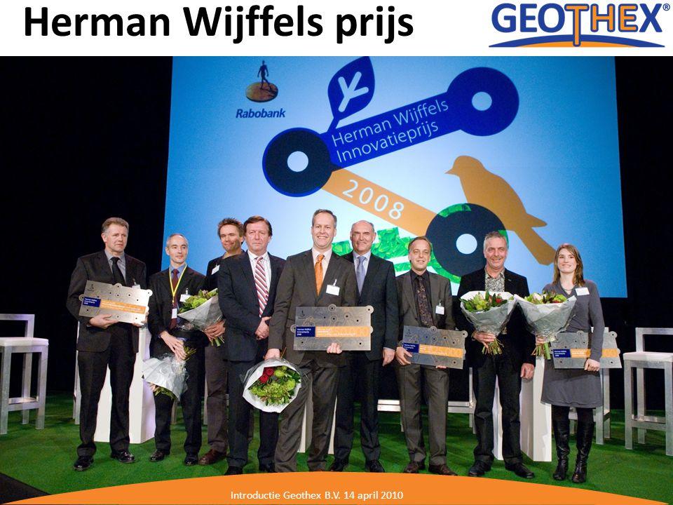 Herman Wijffels prijs Introductie Geothex B.V. 14 april 2010