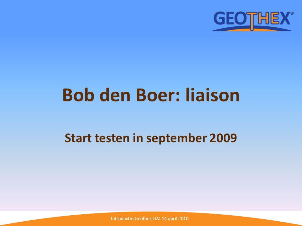 Start testen in september 2009
