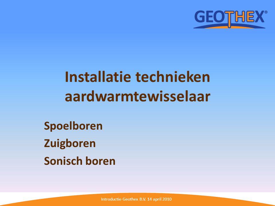 Installatie technieken aardwarmtewisselaar