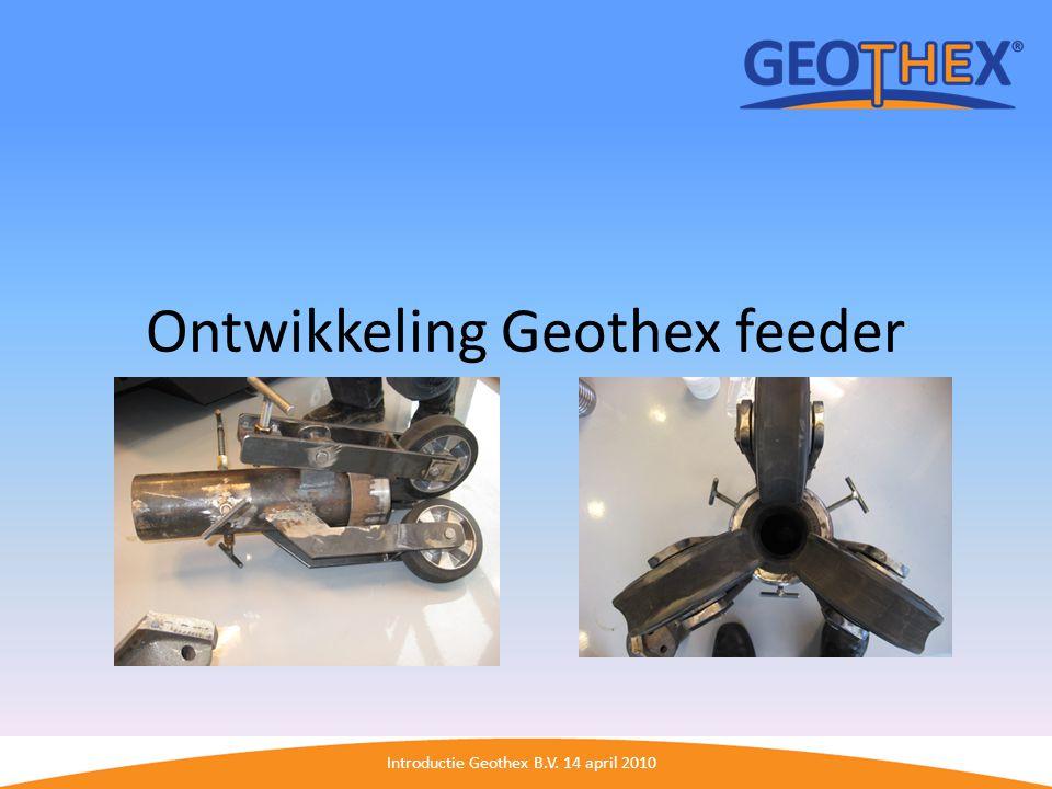 Ontwikkeling Geothex feeder