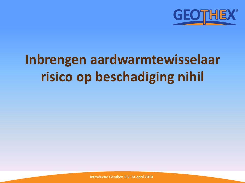 Inbrengen aardwarmtewisselaar risico op beschadiging nihil