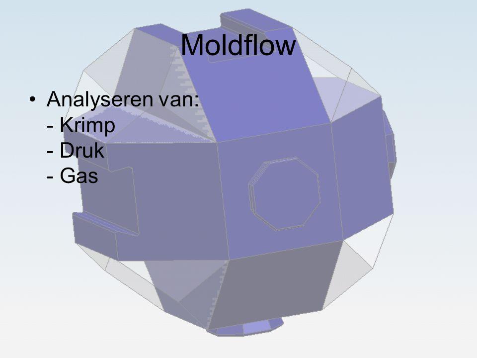 Moldflow Analyseren van: - Krimp - Druk - Gas