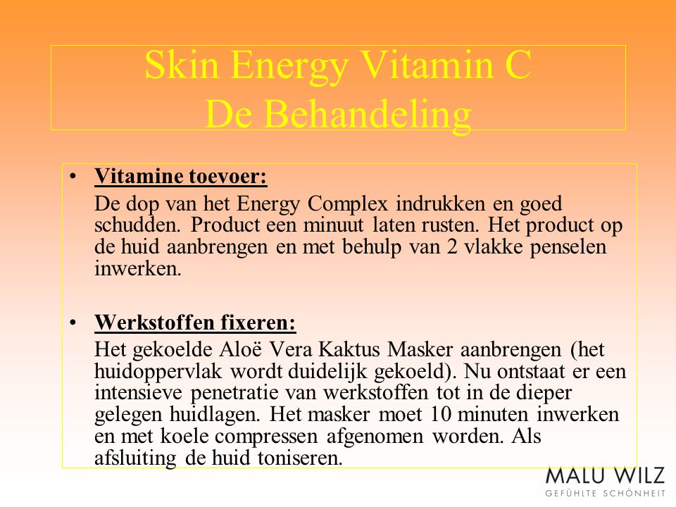 Skin Energy Vitamin C De Behandeling