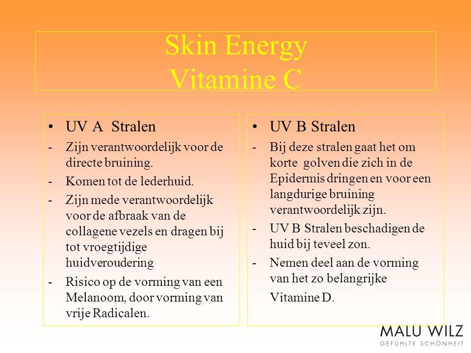 Skin Energy Vitamine C UV A Stralen UV B Stralen