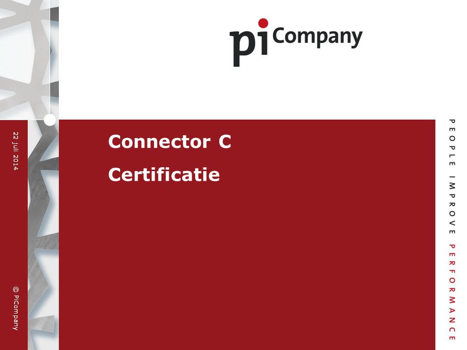 Connector C Certificatie