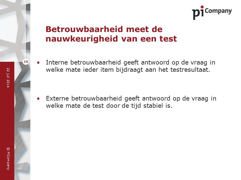 Betrouwbaarheid meet de nauwkeurigheid van een test