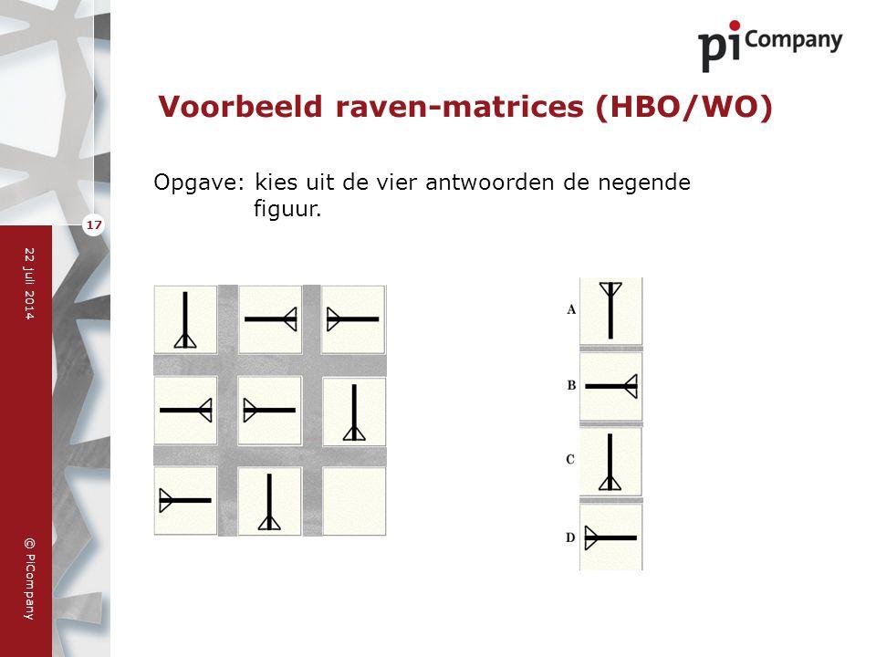 Voorbeeld raven-matrices (HBO/WO)