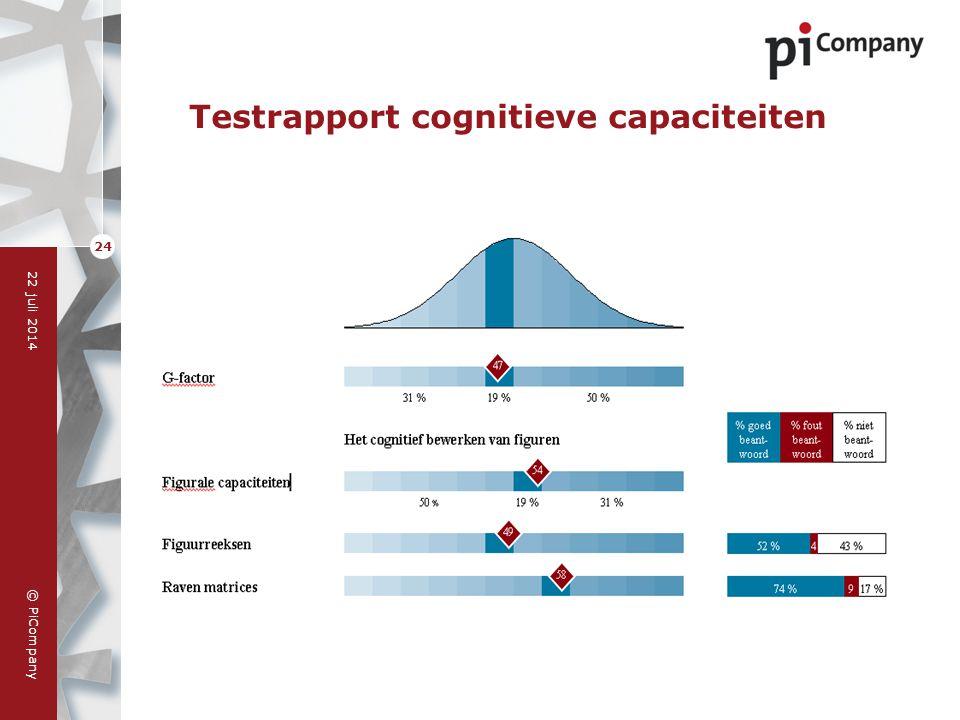 Testrapport cognitieve capaciteiten