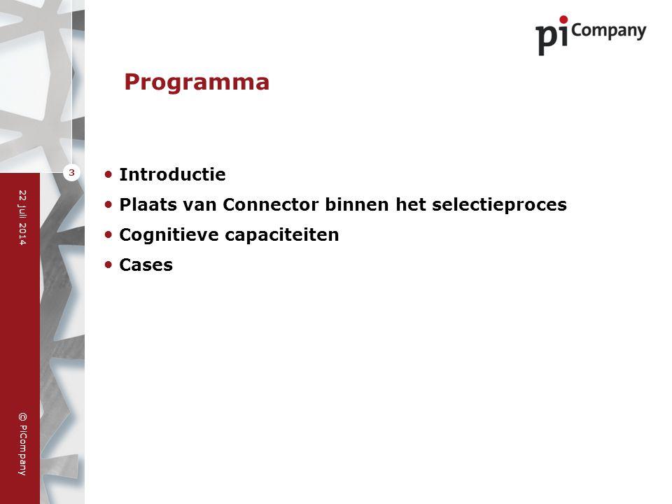 Programma Introductie Plaats van Connector binnen het selectieproces