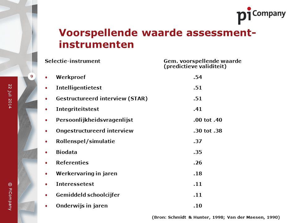 Voorspellende waarde assessment-instrumenten