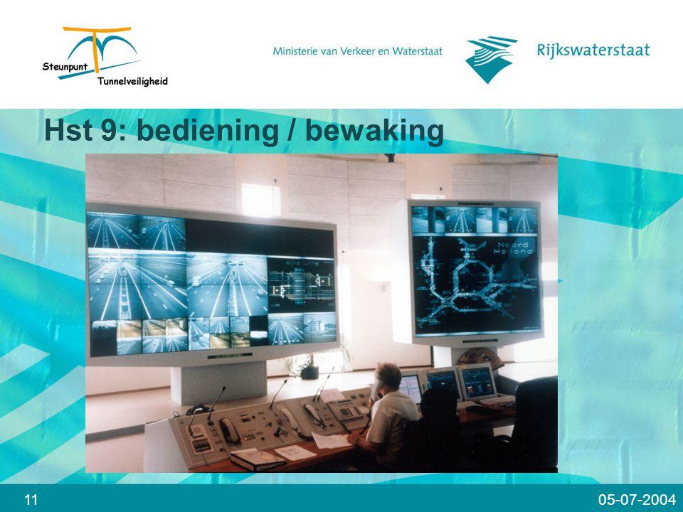 Hst 9: bediening / bewaking