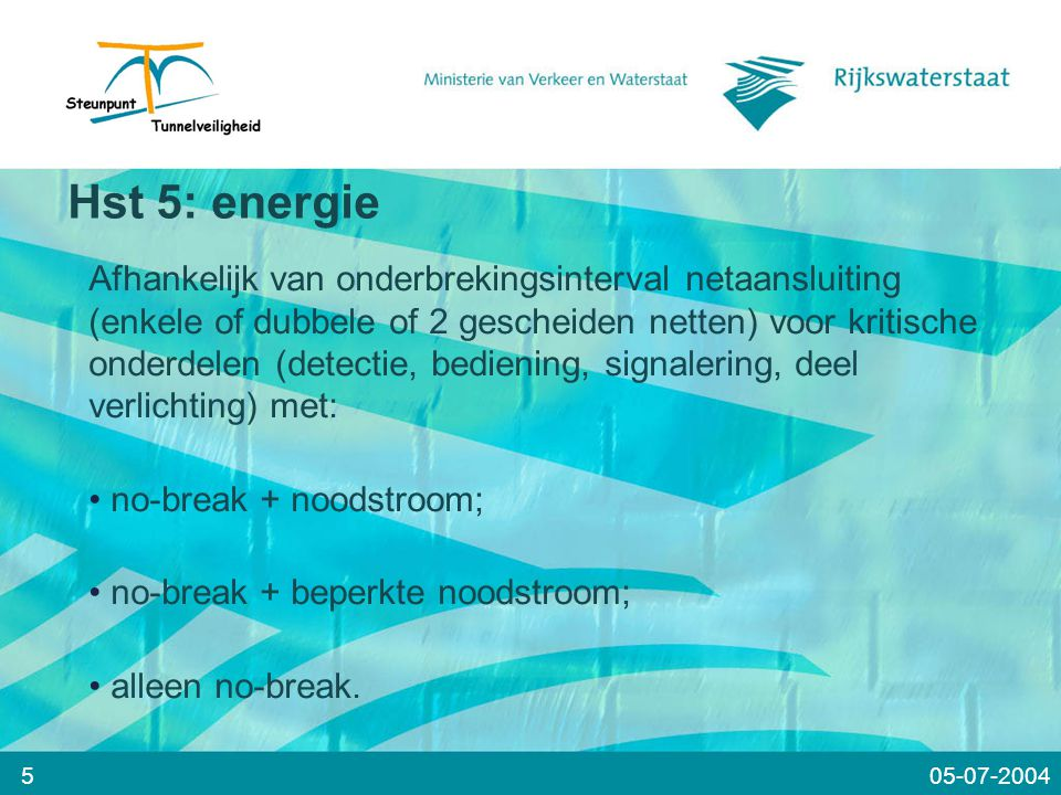 Hst 5: energie