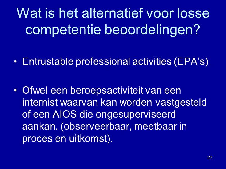 Wat is het alternatief voor losse competentie beoordelingen