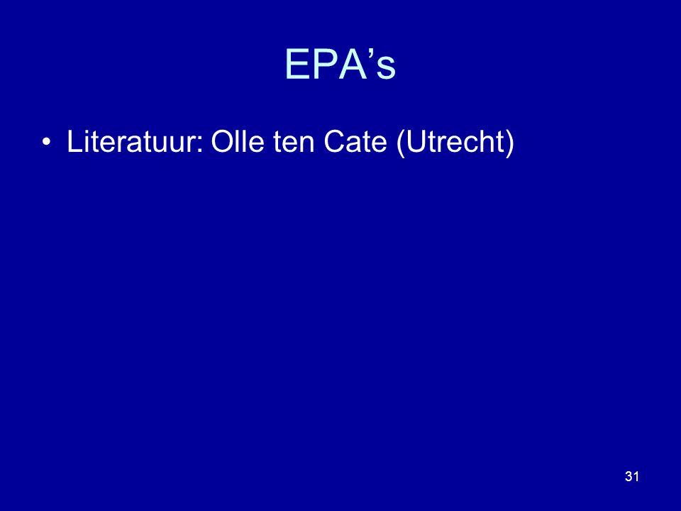 EPA's Literatuur: Olle ten Cate (Utrecht)