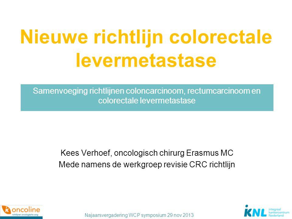 Nieuwe richtlijn colorectale levermetastase