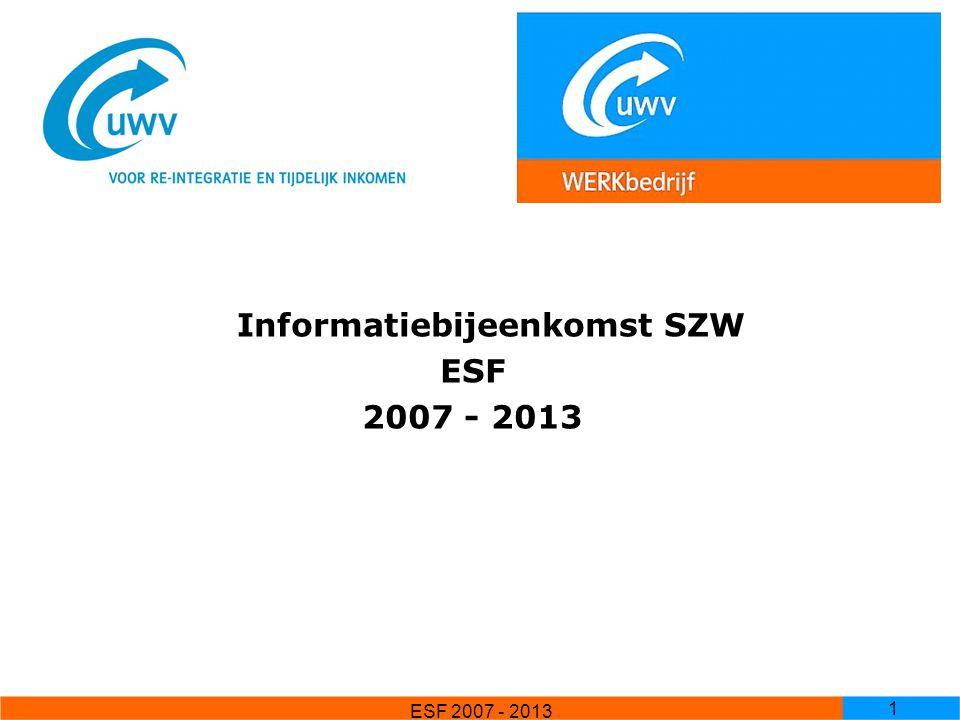 Informatiebijeenkomst SZW