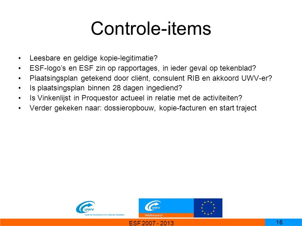 Controle-items Leesbare en geldige kopie-legitimatie