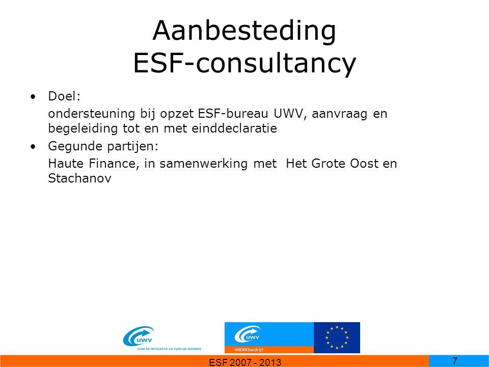 Aanbesteding ESF-consultancy