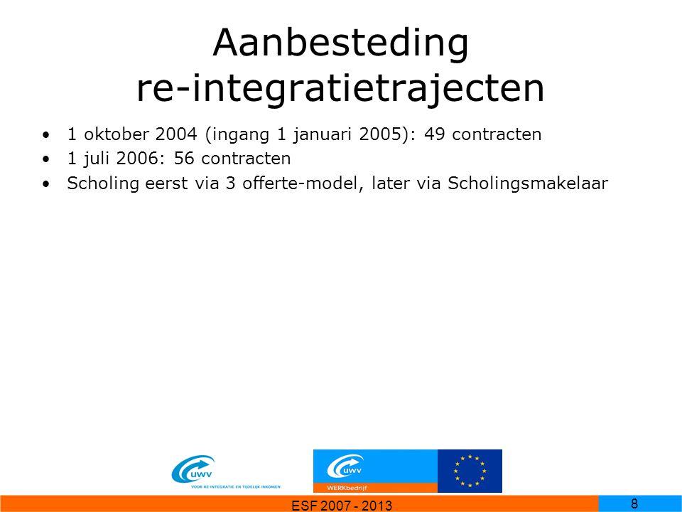 Aanbesteding re-integratietrajecten
