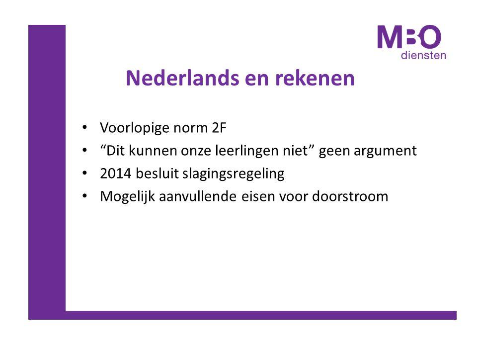 Nederlands en rekenen Voorlopige norm 2F