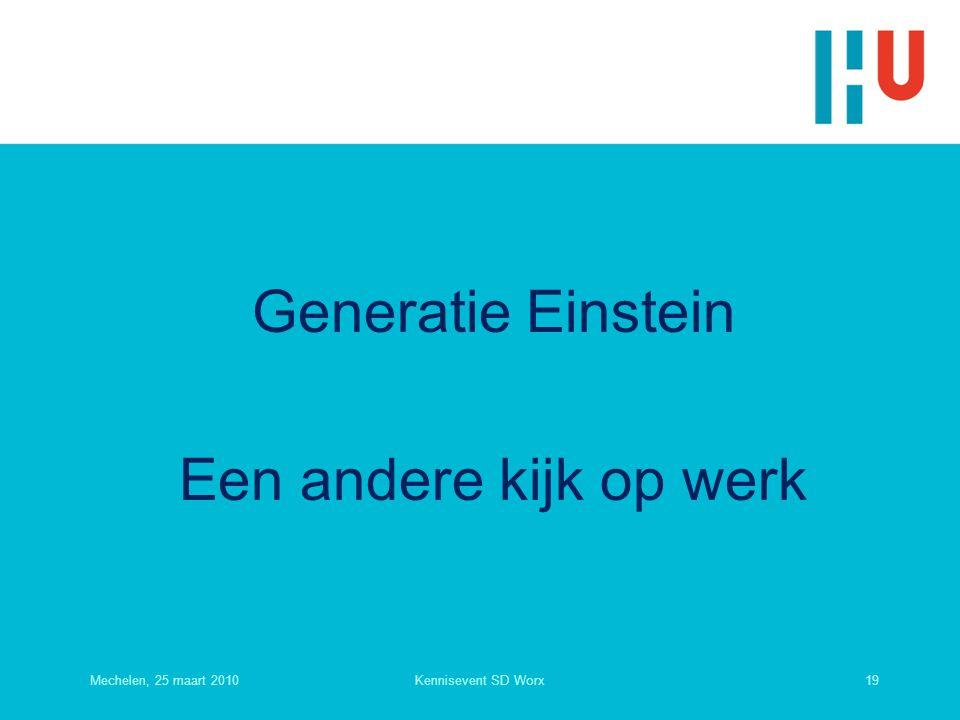 Generatie Einstein Een andere kijk op werk