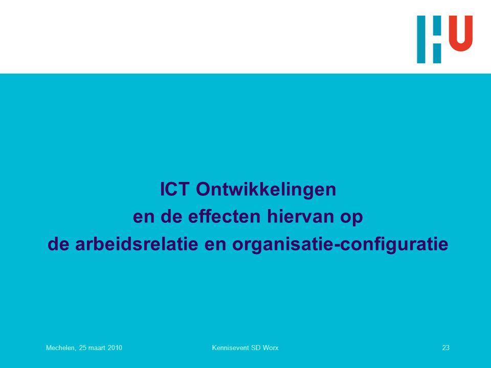 ICT Ontwikkelingen en de effecten hiervan op de arbeidsrelatie en organisatie-configuratie
