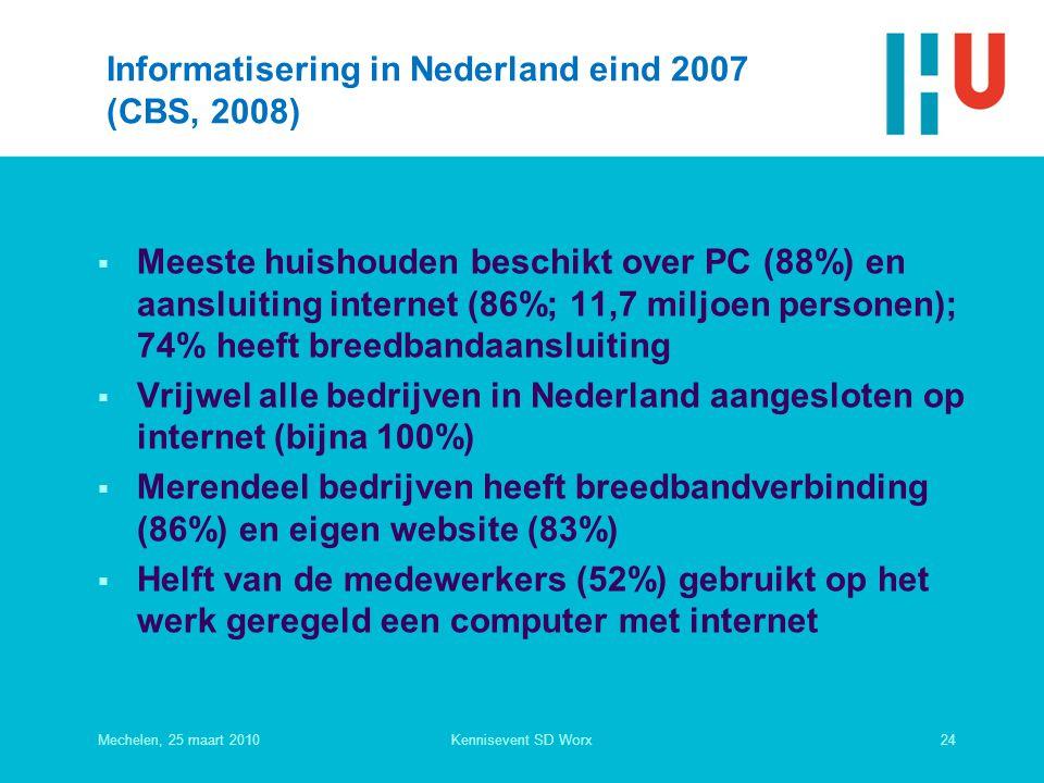 Informatisering in Nederland eind 2007 (CBS, 2008)