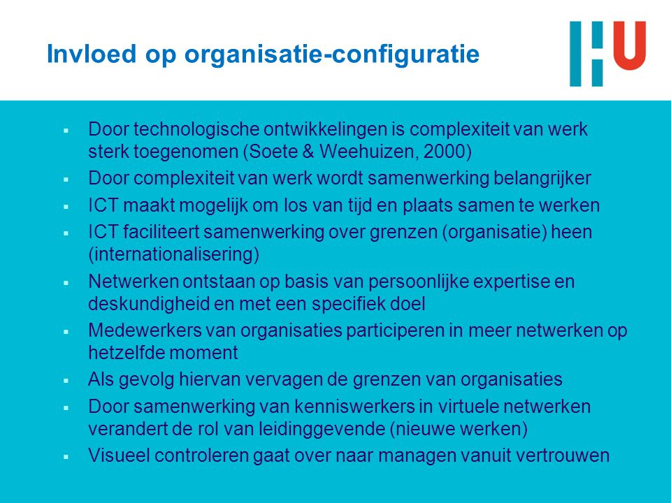 Invloed op organisatie-configuratie