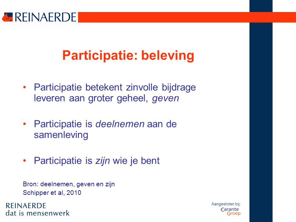 Participatie: beleving