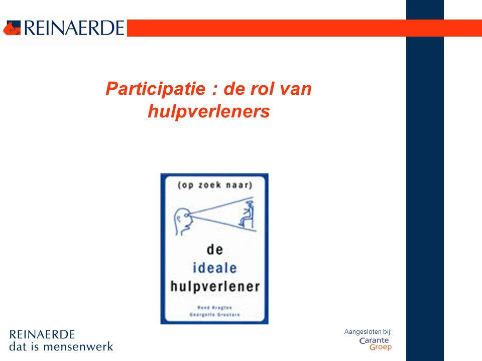 Participatie : de rol van hulpverleners