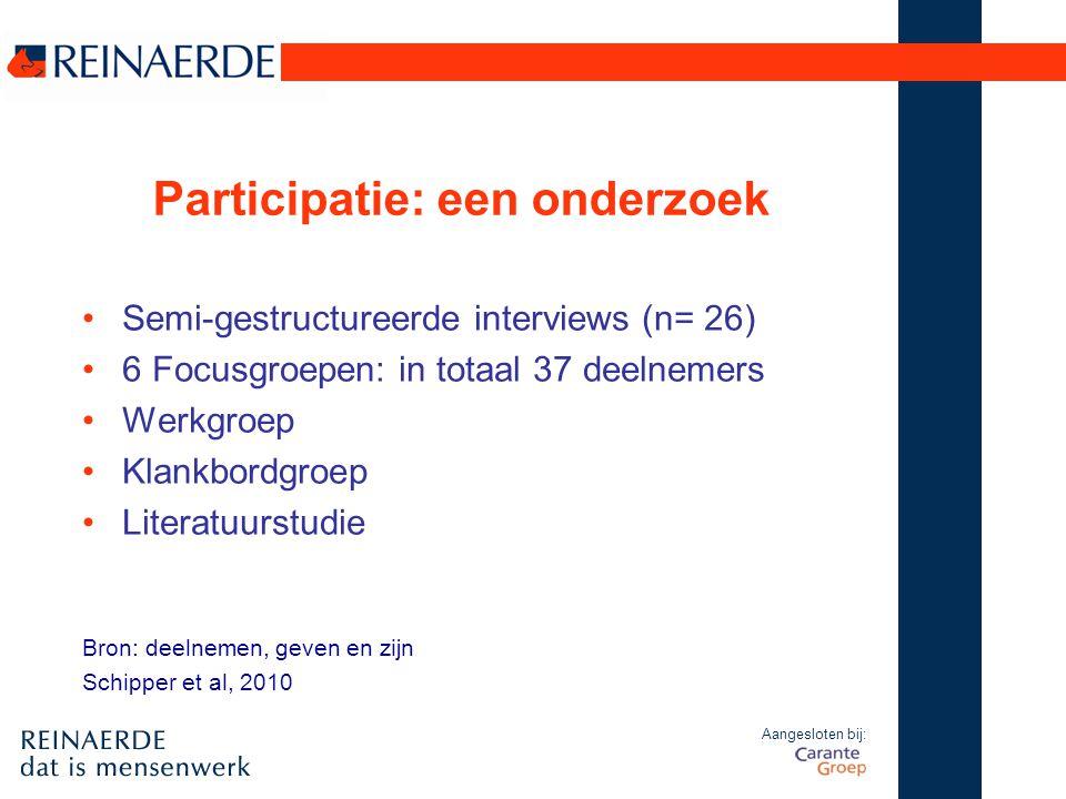 Participatie: een onderzoek