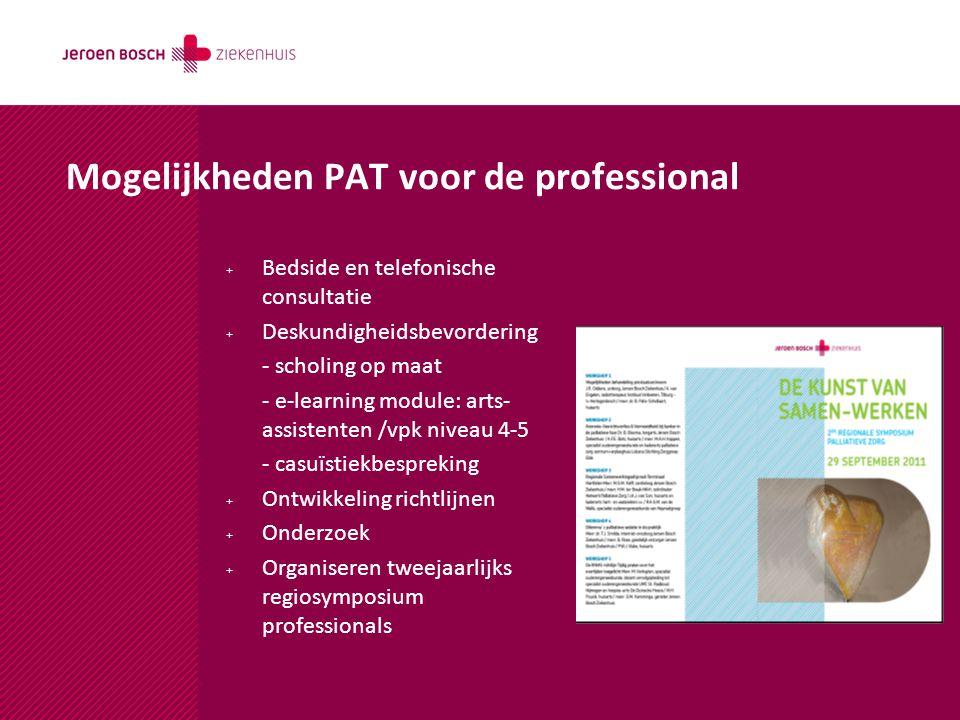 Mogelijkheden PAT voor de professional