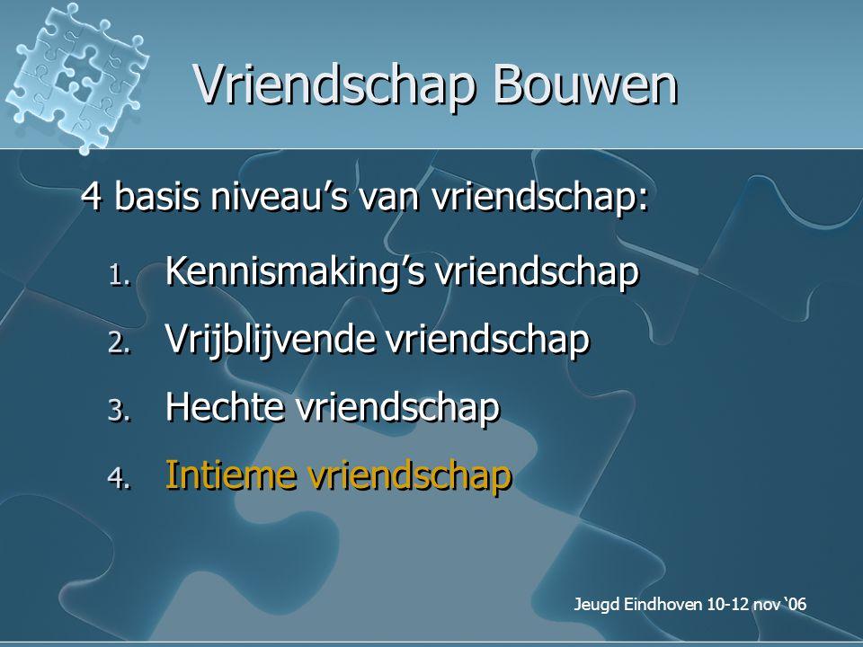 Vriendschap Bouwen 4 basis niveau's van vriendschap:
