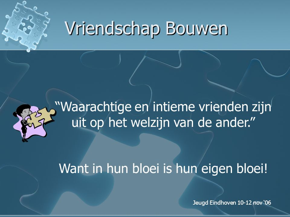 Want in hun bloei is hun eigen bloei!