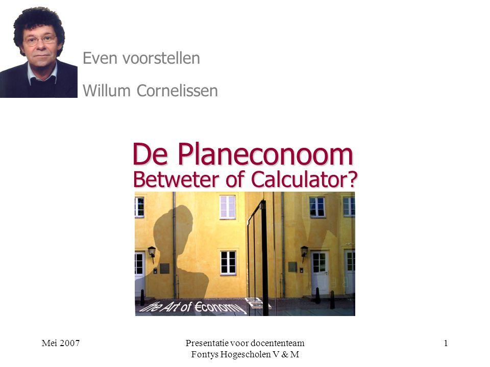 ir Willum Cornelissen & ir. Harry vd Kallen Betweter of Calculator