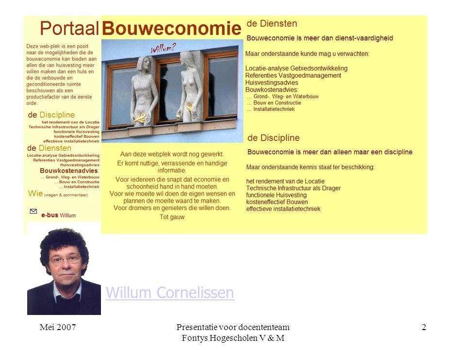 Presentatie voor docententeam Fontys Hogescholen V & M