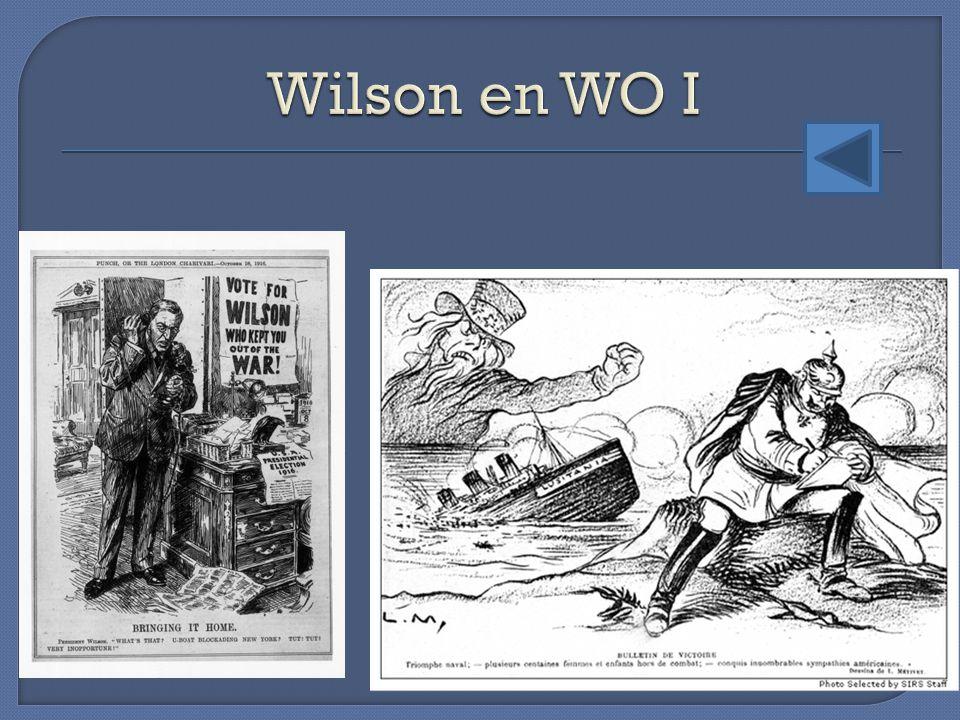 Wilson en WO I