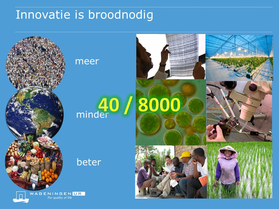 Innovatie is broodnodig