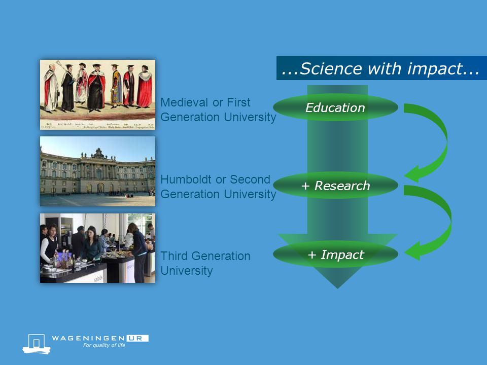 ...Science with impact... Medieval or First Generation University