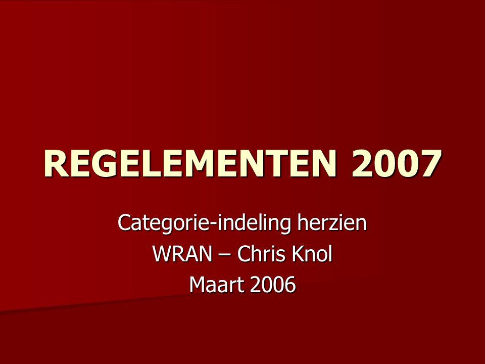 Categorie-indeling herzien WRAN – Chris Knol Maart 2006