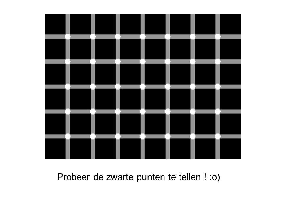 Probeer de zwarte punten te tellen ! :o)