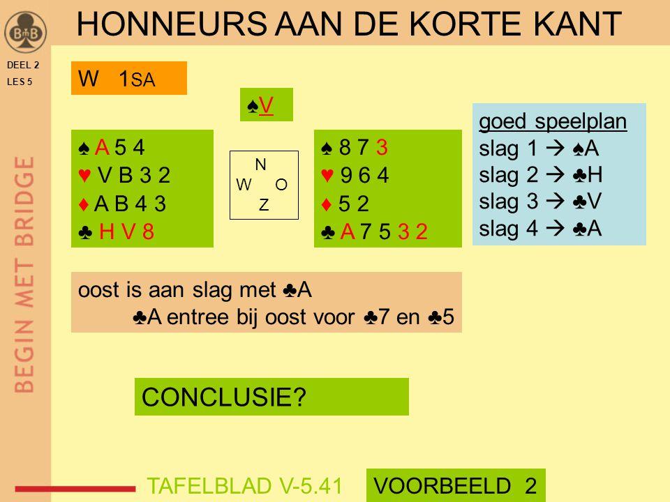 HONNEURS AAN DE KORTE KANT