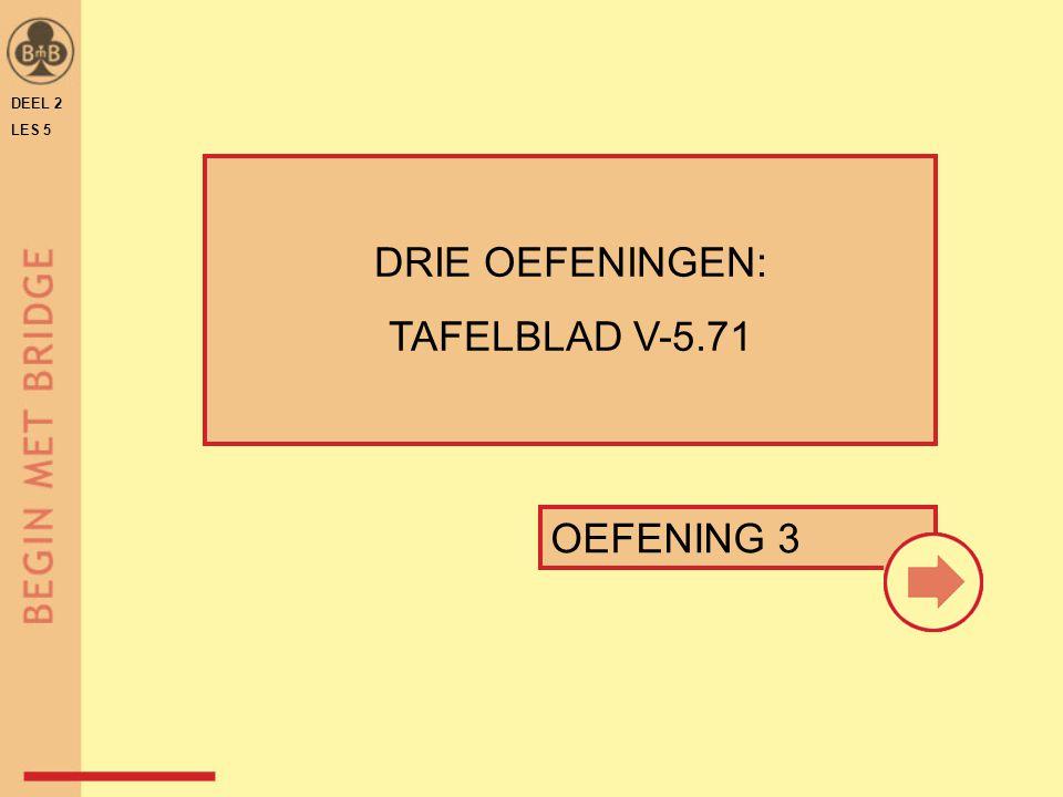 DEEL 2 LES 5 DRIE OEFENINGEN: TAFELBLAD V-5.71 OEFENING 3