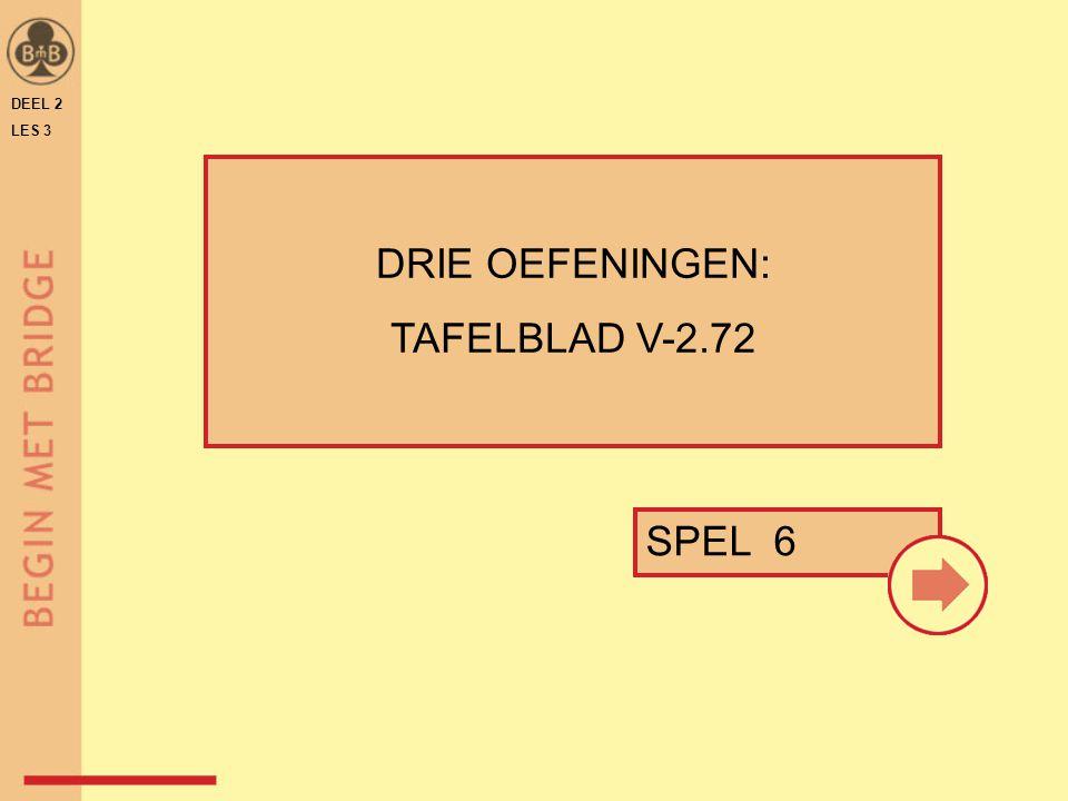 DEEL 2 LES 3 DRIE OEFENINGEN: TAFELBLAD V-2.72 SPEL 6