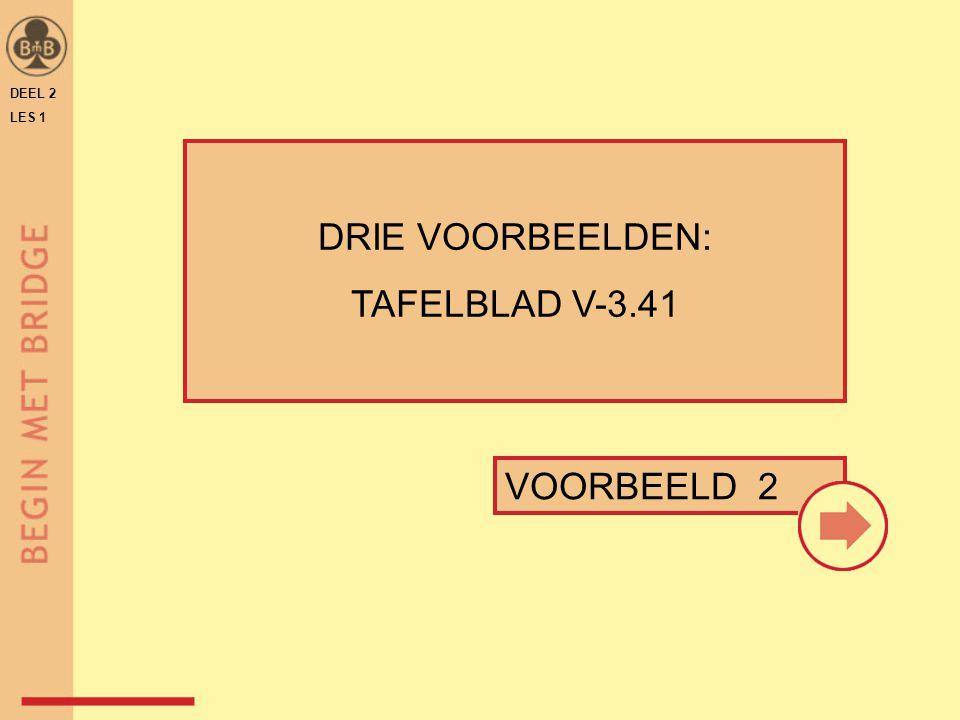 DEEL 2 LES 1 DRIE VOORBEELDEN: TAFELBLAD V-3.41 VOORBEELD 2
