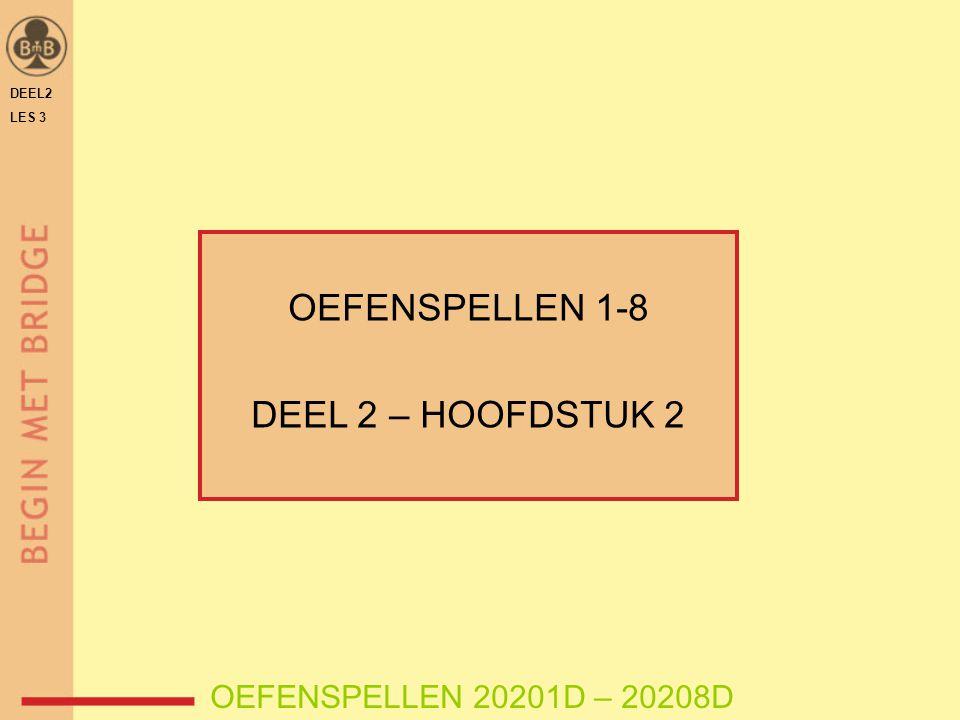 OEFENSPELLEN 1-8 DEEL 2 – HOOFDSTUK 2 OEFENSPELLEN 20201D – 20208D